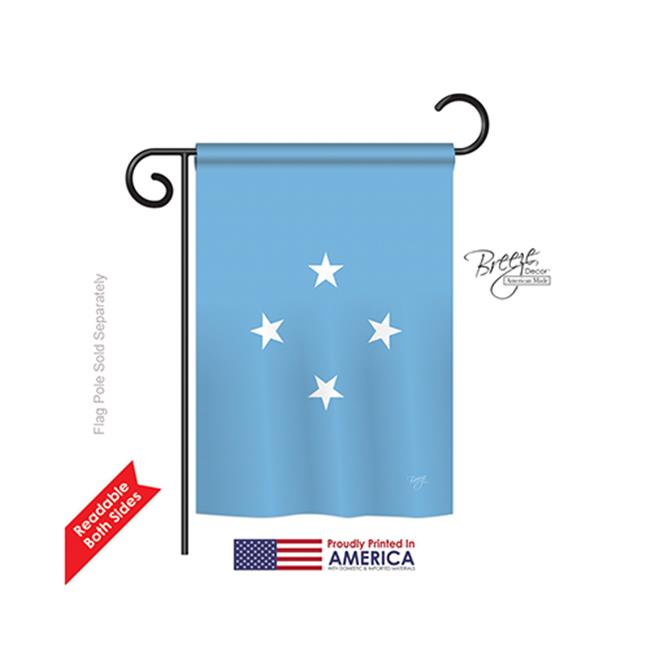 Breeze Decor 58352 Micronesia 2-Sided Impression Garden Flag - 13 x 18.5 in. - image 1 of 1