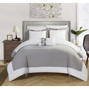 Chic Home 4 Piece Uma Modern Two Tone Reversible Hotel Collection With Embellished Borders