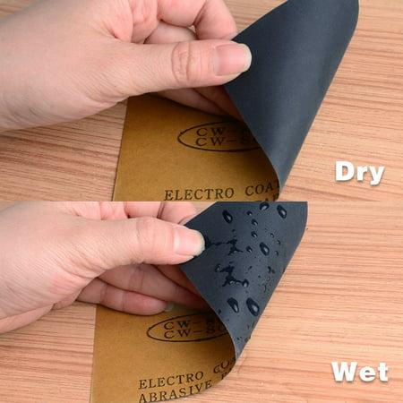 Waterproof Sandpaper, Wet Dry Sand Paper Grit of 150, 9 x 3.7inch 5pcs - image 2 de 5