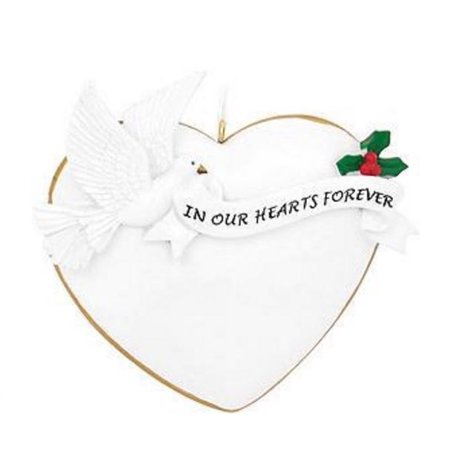 In Our Hearts Forever Dove Heart Christmas Ornament Tree Decoration ()