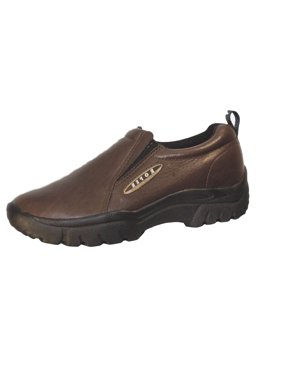 Roper Western Shoes Mens Wide Slip On Brown 09-020-0601-8206 BR