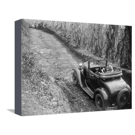 Kitty Brunell driving a 1930 Ford Model A 2-seater, 1931 Stretched Canvas Print Wall Art By Bill