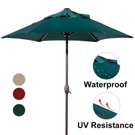 Abba Patio 7 1 2 Ft Round Outdoor Market Patio Umbrella With Push