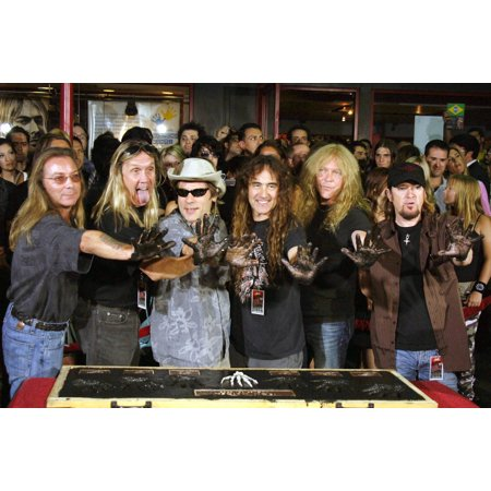 Dave Murray Nicko Mcbrain Bruce Dickinson Steve Harris Janick Gers And Adrian Smith At The Induction Ceremony For Hollywood Rockwalk Induction Of Iron Maiden The Guitar Center Hollywood Los Angeles Ca Oakley Bruce Irons