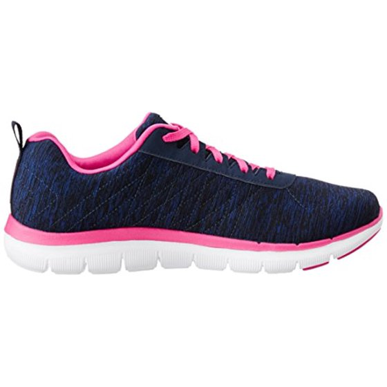 12753 Navy Pink Skechers Shoe Women Memory Foam Sport Flex Train Comfort Sneaker 12753NVPK