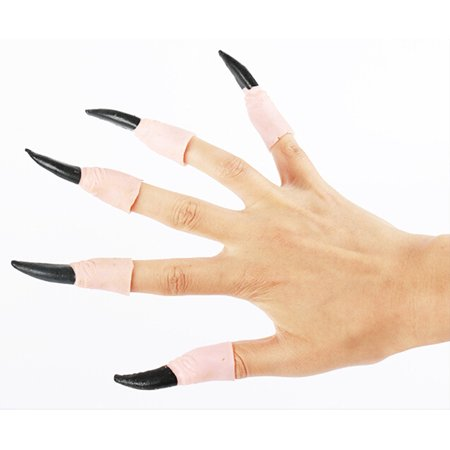 10Pcs Zombie Witch Fake Finger Nails Set Halloween Party Prop - Fake Nails For Halloween