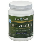 Green Foods True Vitality Plant Protein Powder, Unflavored, 15g Protein, 1.4 Lb