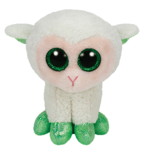 TY Basket Beanie Baby - LALA the Lamb (4 inch)
