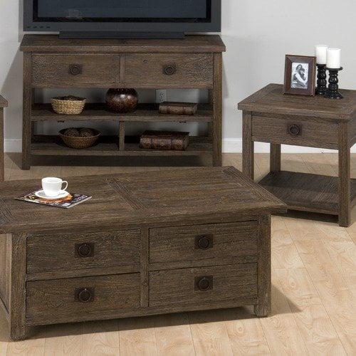 Jofran Sylvan Coffee Table Set in Distressed Elm
