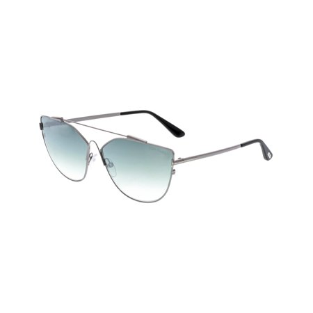 - Tom Ford Women's Gradient Jacquelyn FT0563-14X-64 Silver Cat Eye Sunglasses