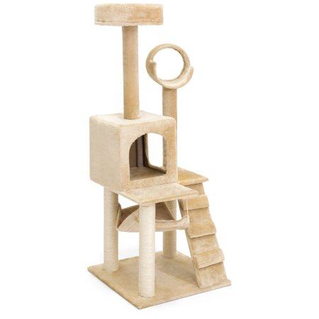 Best choice products 52in deluxe cat tree scratcher for Cat tower with hammock