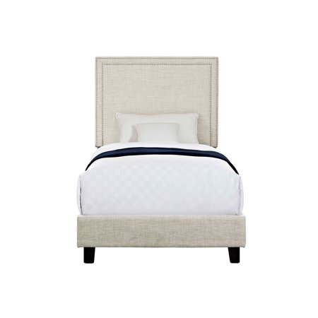 Picket House Furnishings Emery Upholstered Twin Platform Bed, (Natural Kids Bedroom Furniture)