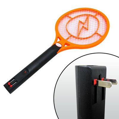 #1 Ultimate 2500 Volt Rechargeable Electronic Bug Swatter Zapper Zaps Racket Fly Wasp Mosquito Killer - 3 Layer Mesh Terminator - Giant Fly Swatter