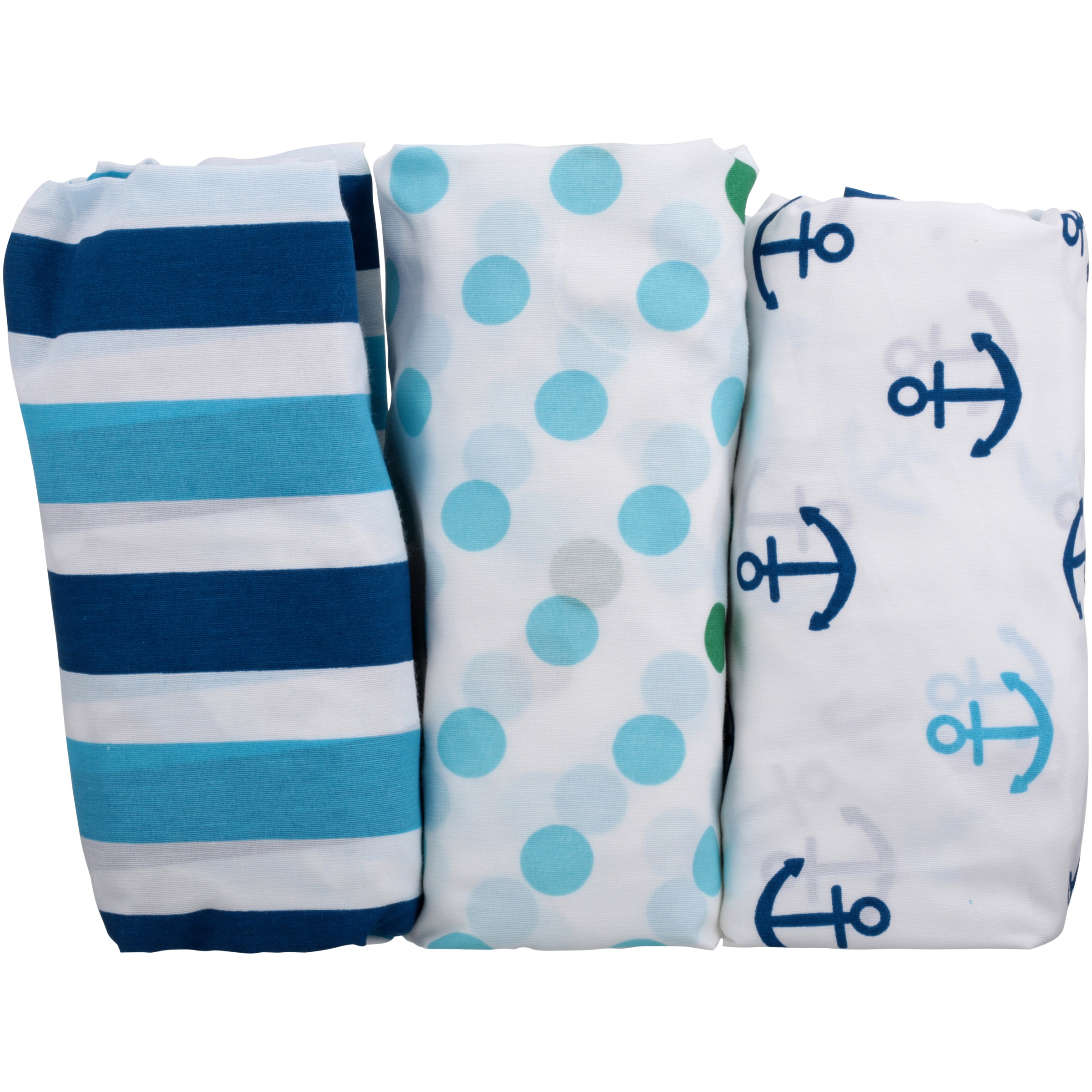 Little Bedding Splish Splash Crib Fitted Sheet Set 3 ct Pack