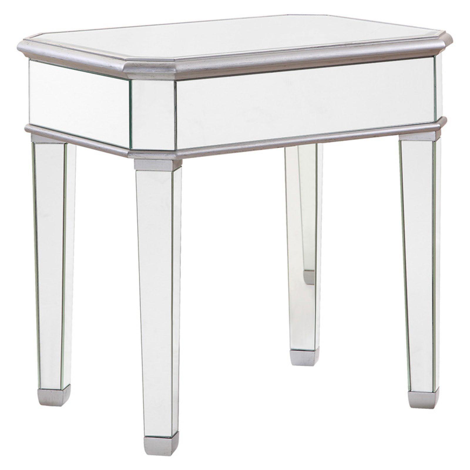 Click here to buy Elegant Lighting Mirrored Lamp Table, Silver by Elegant Lighting.