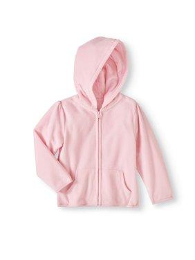 Baby Toddler Girl Micro Fleece Solid Hoodie
