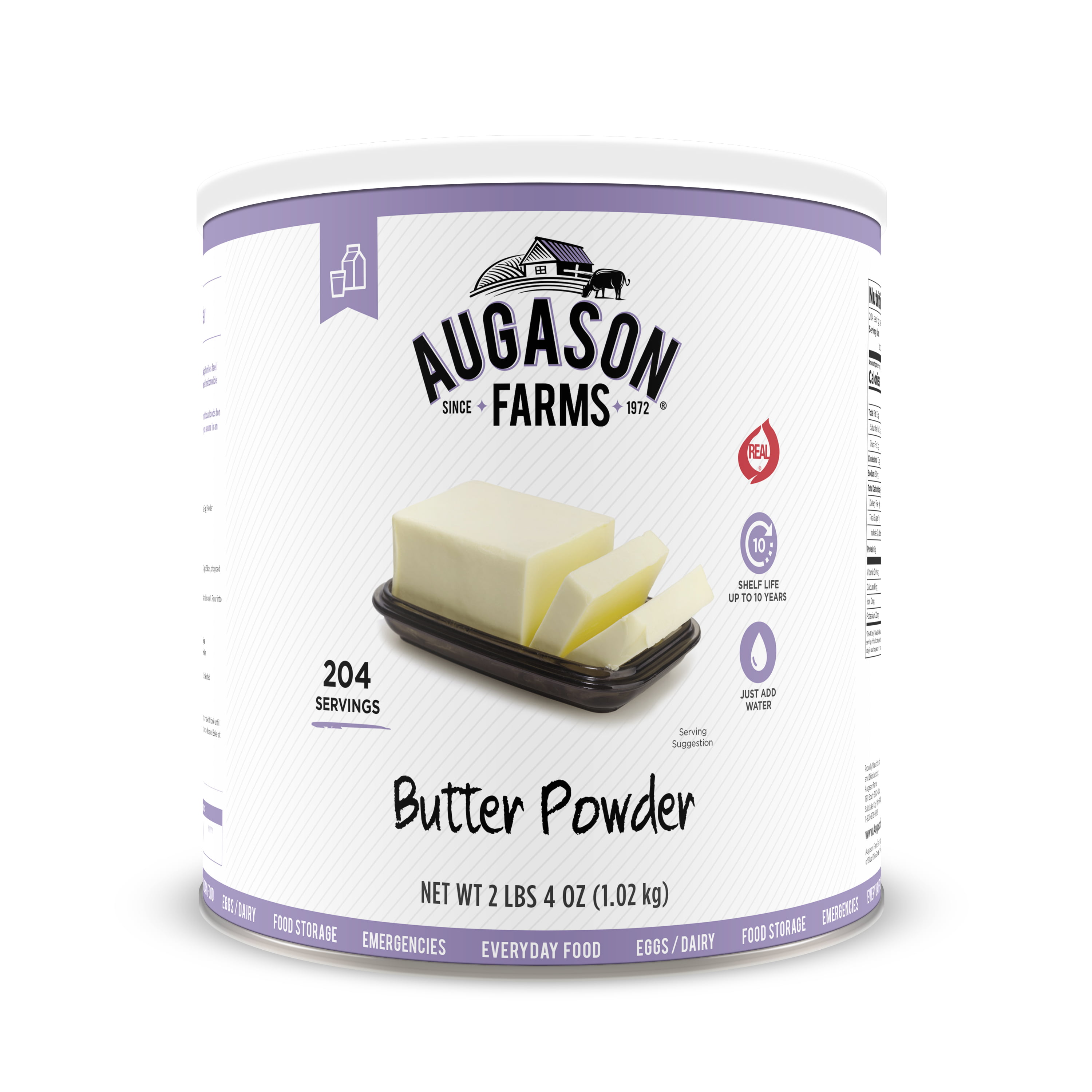Augason Farms Butter Powder 2 lbs 4 oz No. 10 Can by Blue Chip Group
