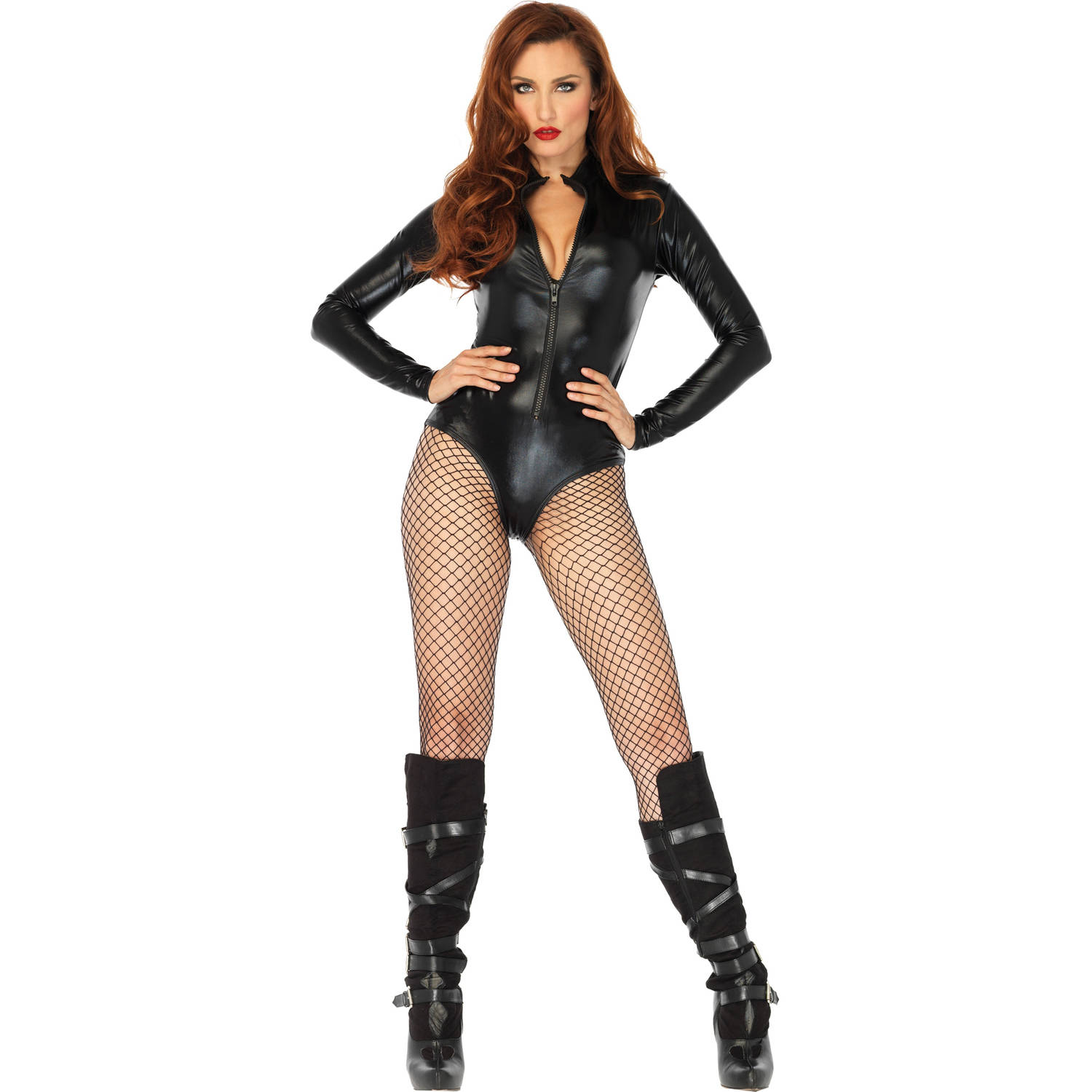 Leg Avenue Womens Black Bodysuit