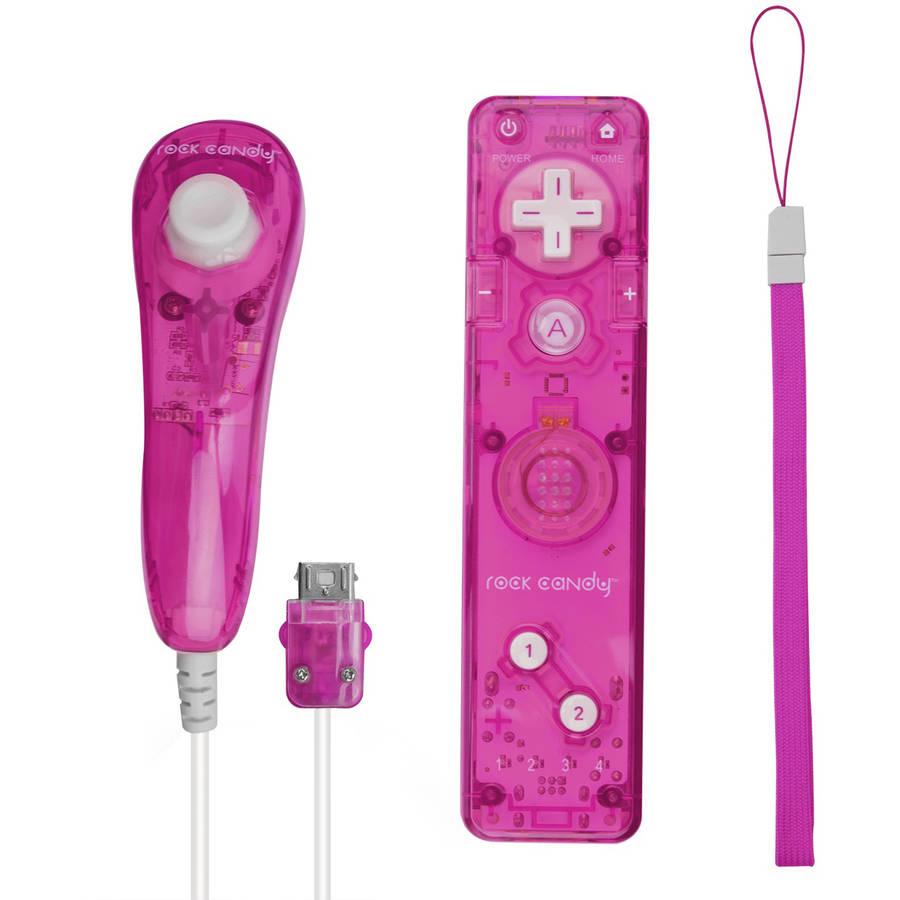 PDP Rock Candy Wii/Wii U Controller Bundle, Pink Palooza