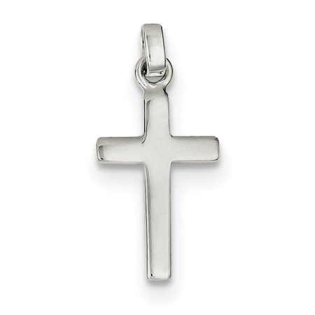 Sterling Silver Polished Cross Charm QC4274 (20mm x 111mm) - image 3 de 3