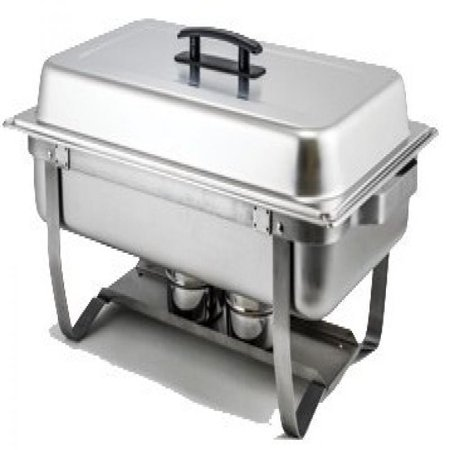 Winware C-4080 - 8 Quart Full-Size Stainless Steel Chafer W/Folding Stand