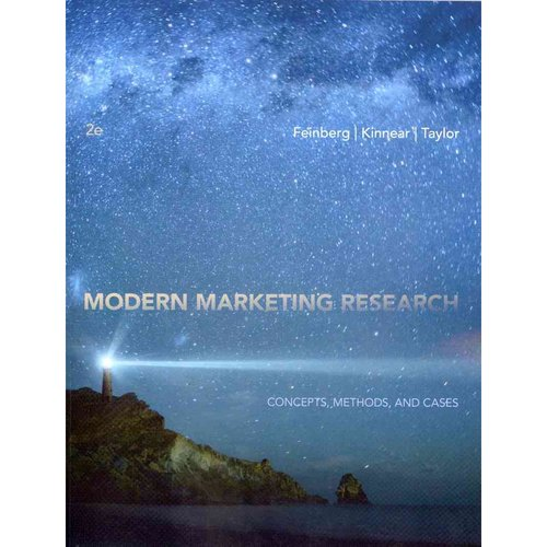 Modern Marketing Research: Concepts, Methods, and Cases