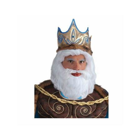 Halloween White King Wig - Kings Wigs