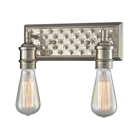 Innovations 2 Lt Bare Bulb 8 Bathroom Fixture Brushed Satin Nickel 563