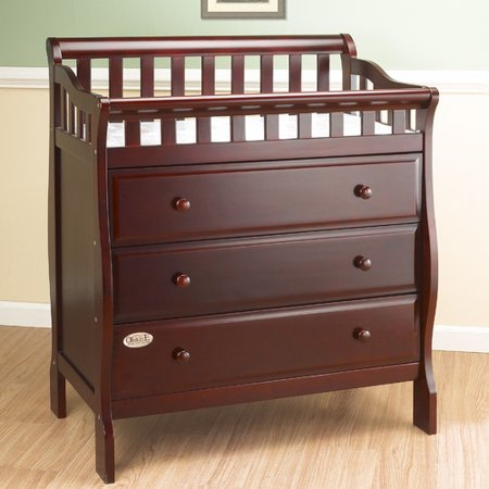 Orbelle Trading Changing Table Dresser with Pad (Babi Italia Eastside Dresser Changer Combo Classic Cherry)