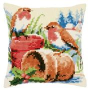 Vervaco Winter Garden Pillow Cover Needlepoint Kit