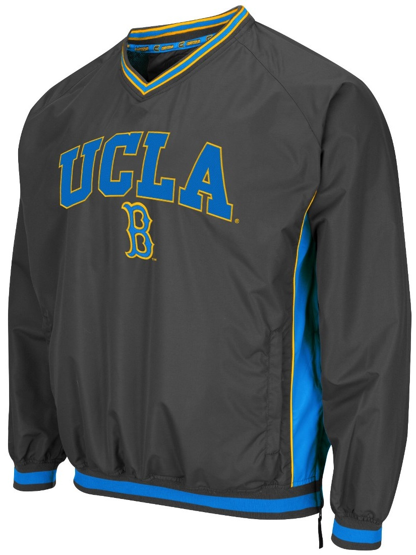 """UCLA Bruins NCAA """"Fair Catch"""" Pullover Men's Jacket Charcoal by Colosseum"""