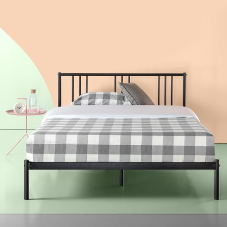 Zinus Sophia Black Metal Platform Bed With Headboard