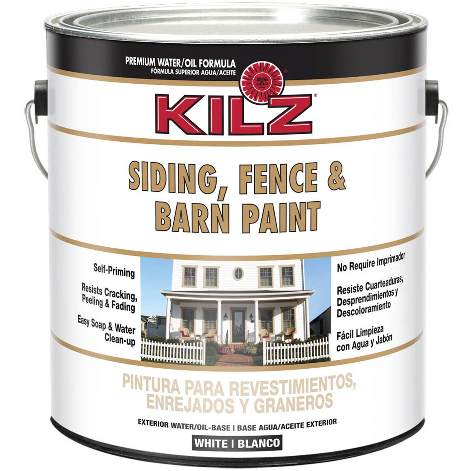 Exterior Paint Coverage Per Gallon: KILZ SELECT LOOK Interior/Exterior Satin Paint & Primer In