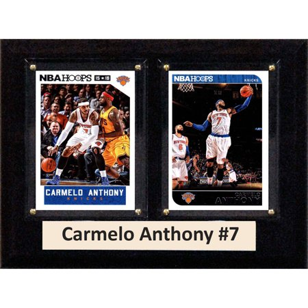 C Collectables Nba 6X8 Carmelo Anthony New York Knicks 2 Card Plaque