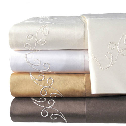 Veratex, Inc. Supreme Sateen 800-Thread Count Scroll Bedding Sheet Set