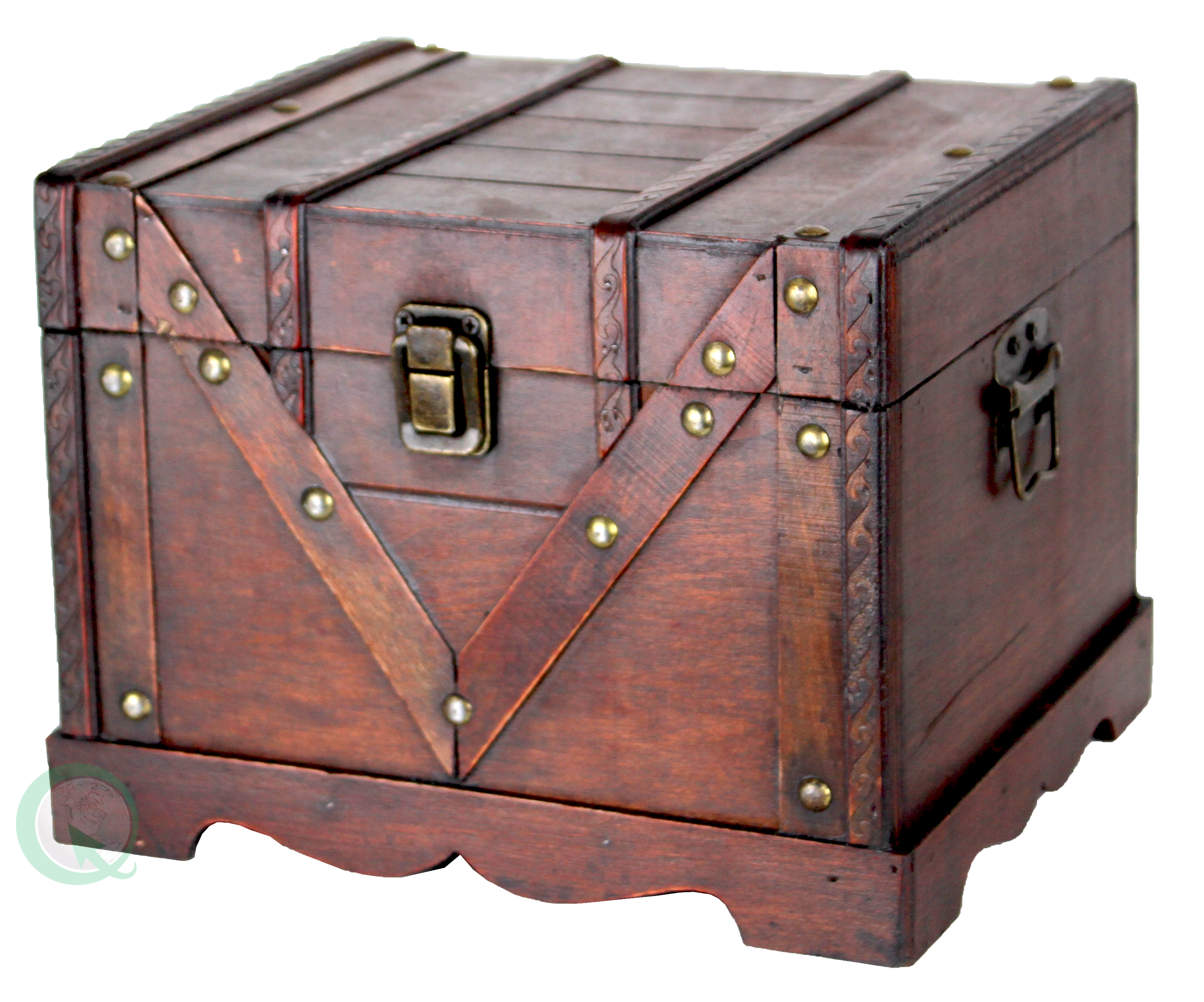 sc 1 st  Walmart & Small Wooden Treasure Box Old Style Treasure Chest - Walmart.com