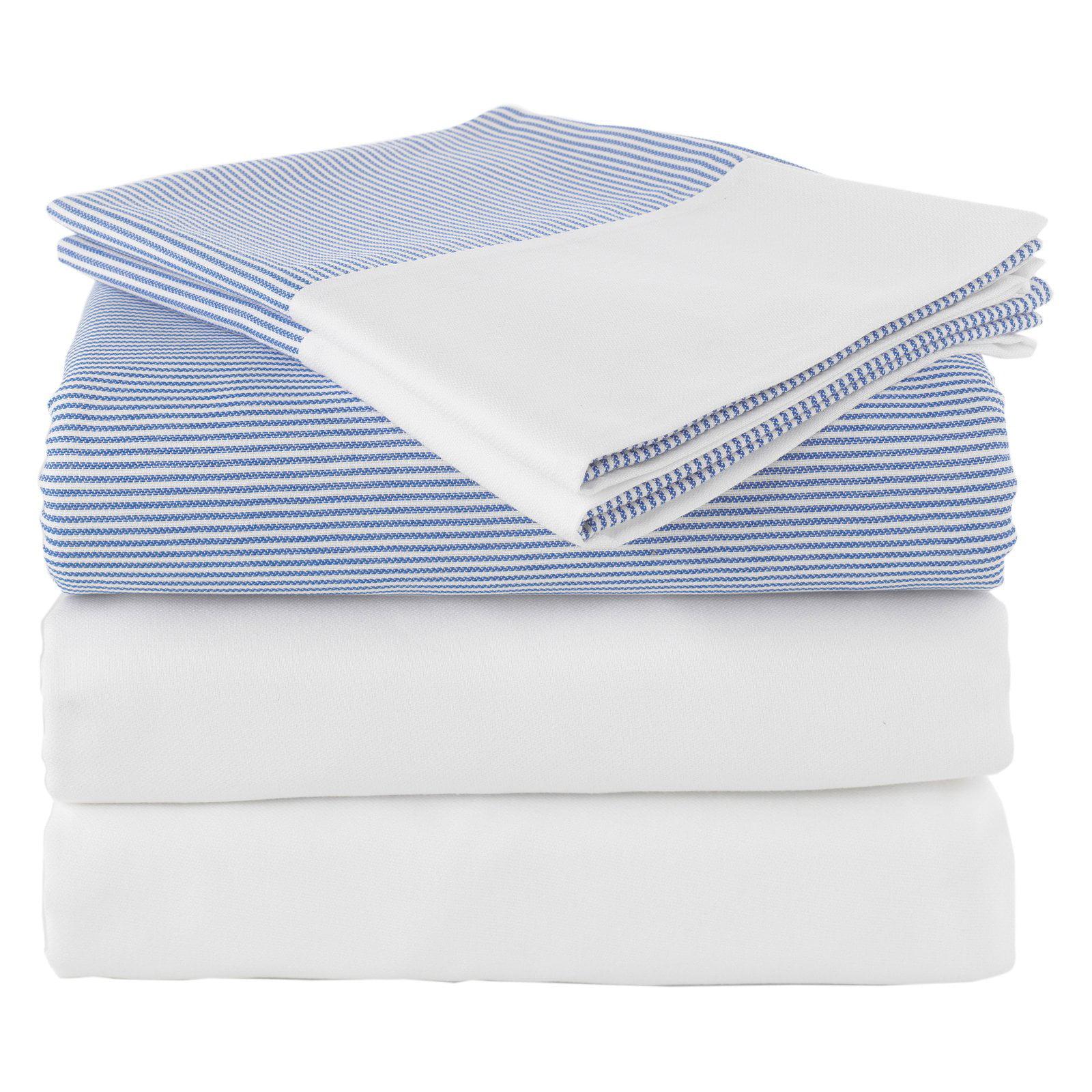 Linum Home Textiles Chevas Luxury Stripe 100% Turkish Cotton 5-Piece Duvet Cover and 300 Thread Count Sheet Set
