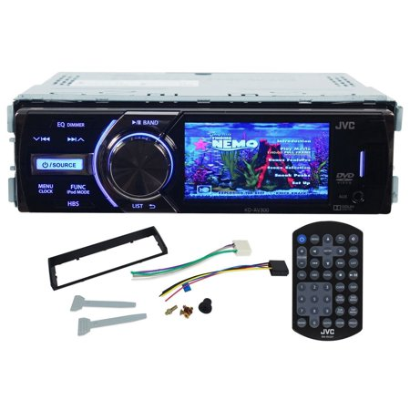 jvc kd av300 in dash single din car dvd cd receiver with 3. Black Bedroom Furniture Sets. Home Design Ideas