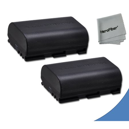 2 High Capacity Replacement Canon LP-E6 Batteries for Canon EOS 70D DSLR Camera