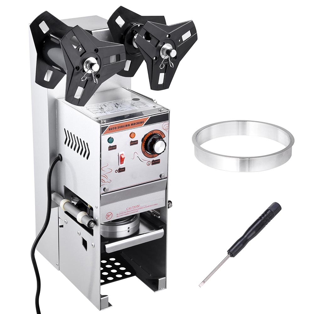 Yescom Upgraded 350W Electric Commercial Semi-automatic Tea Cup Sealing Machine Bubble 400 600 Cups/hr Sealer