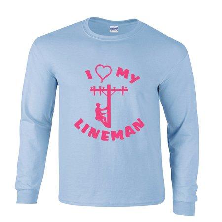 Lineman Long Sleeve T-Shirt I Love Heart My