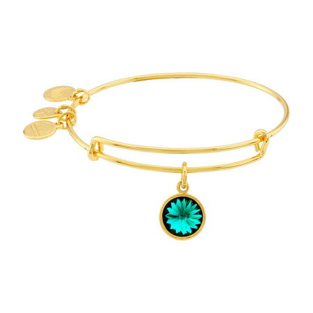 Anne Klein Gold Bangle Bracelet - May Birth Month Charm Bangle