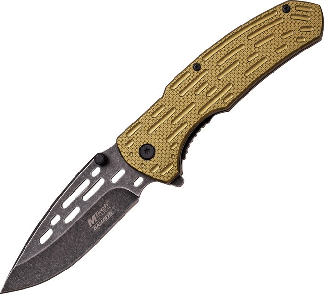 "Mtech MTA896GN Linerlock A/O Folding Knife Black SW 3.5"" Blade/OD Green Handle"