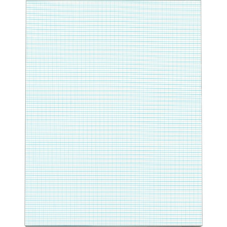 TOPS, TOP33101, White Quadrille Pads - Letter, 50 / Pad