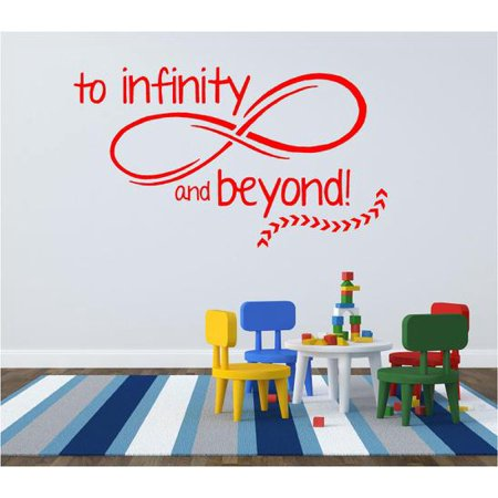 Toy Story Vinyl Wall Decal To Infinity And Beyond Movie Quote