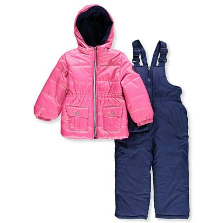 Pink Platinum Girls' 2-Piece Snowsuit - pink, 4