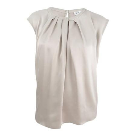 Kasper Women's Plus Size Pleated Charmeuse Top (2X, Champagne) ()