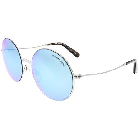 e2fb8f1ac115 Michael Kors - Michael Kors Women's Mirrored Kendall Ii MK5017-100125-55  Silver Round Sunglasses - Walmart.com