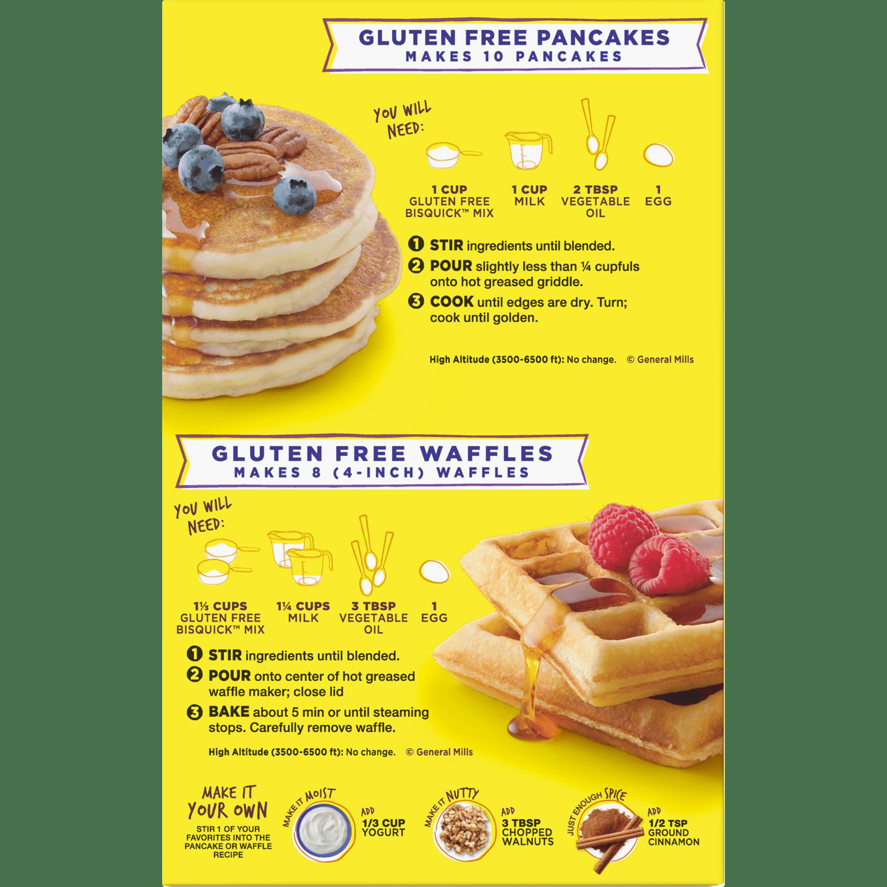 Bisquick pancake recipe without eggs or milk