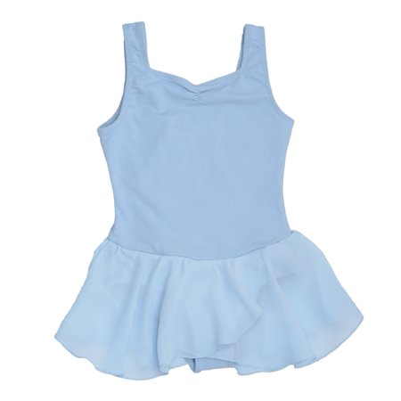 Danshuz Lt. Blue Sweetheart Neckline Georgette Skirt Dance Dress Girls 6X-7